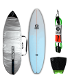 Pack Surfboard EGG Zero + deck grip + leash + board bag Shapers
