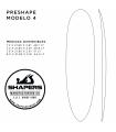 Preshape Surfboard Modelo 4