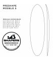 Preshape Surfboard Modelo 5