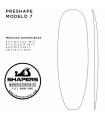 Preshape Surfboard Modelo 7