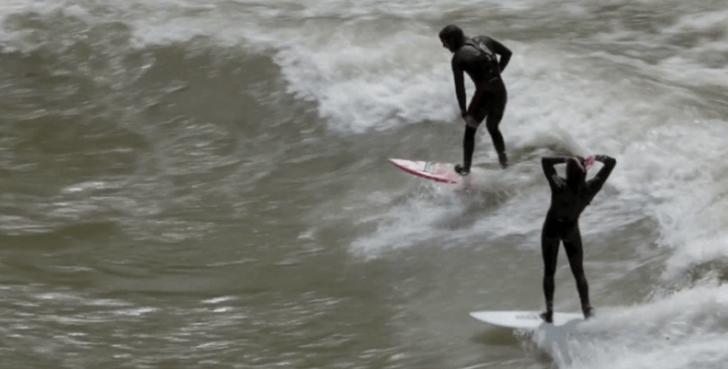 Espectáculo de surf en el río Wyoming