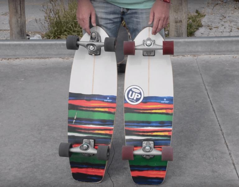 Novedades de los skate Carver: Ejes y ruedas
