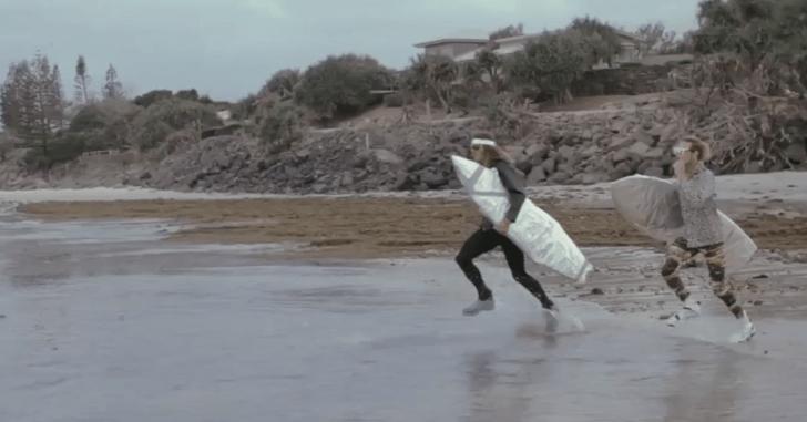 Así será el surf en el año 2879. Regreso al futuro.