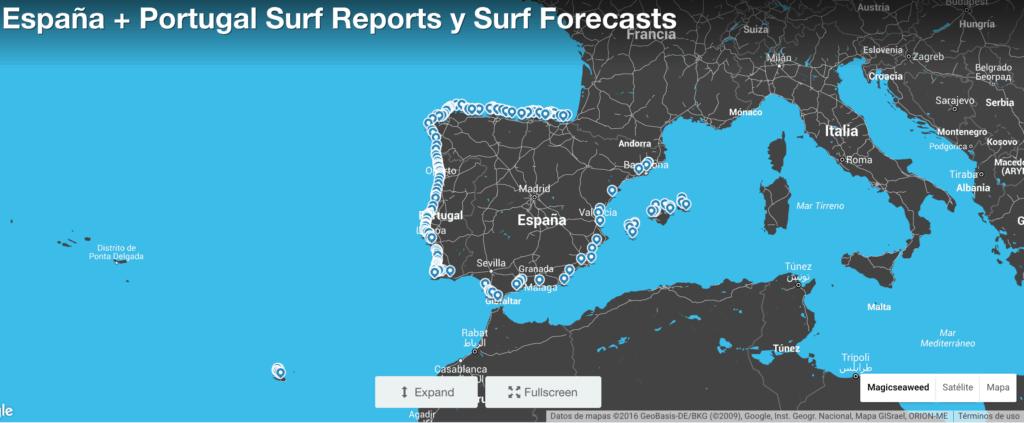 Surf Forecast aplicación previsión de olas