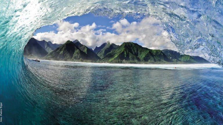 """Lay day"" en el Billabong Pro Tahití"