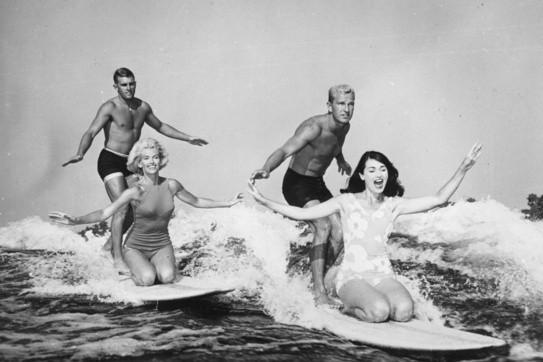 surf en pareja