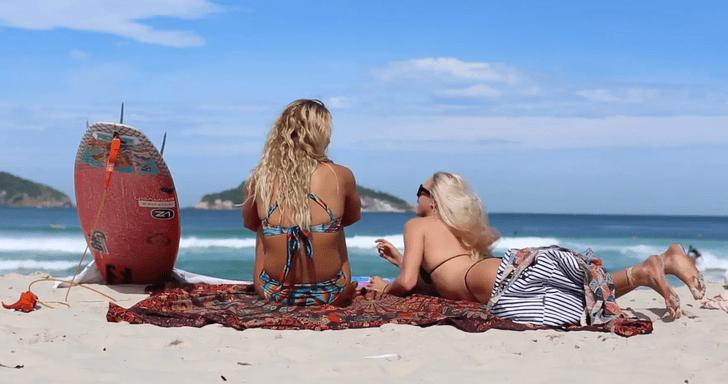 La belleza de Brasil con dos talentos en bruto