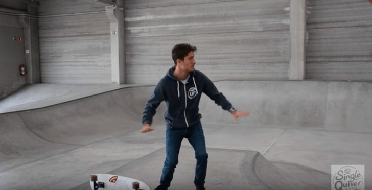 Surfskate maneuver Backside Reentry