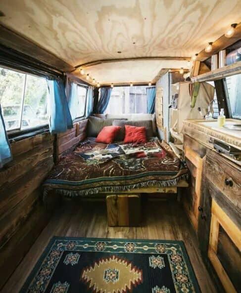 Rustic camper van