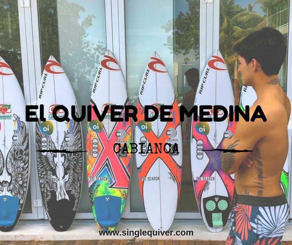 El quiver de Gabriel Medina made in Basque Country