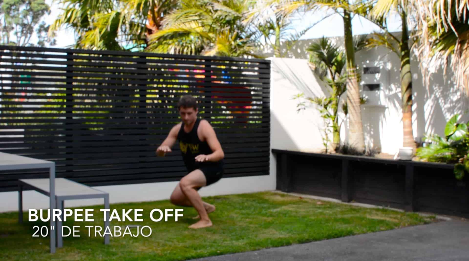 Entrenamiento funcional de surf: Take off II