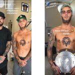El nuevo tatuaje de Filipe Toledo: el león del J Bay