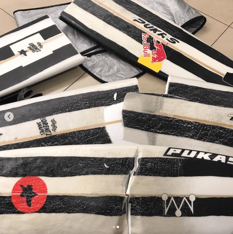 Iberia destroza las tablas de surf de Natxo González