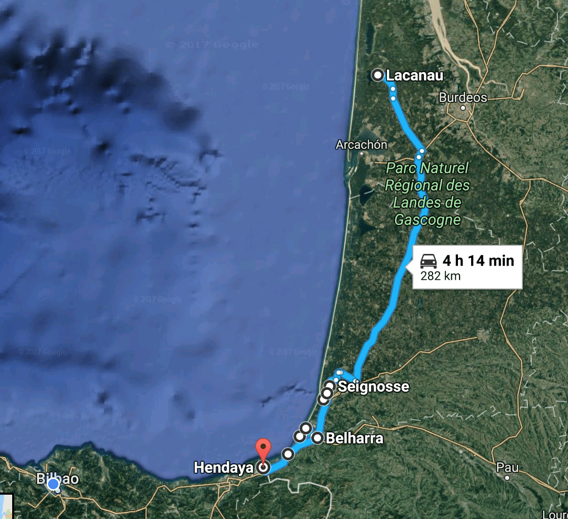 Beach Route through France