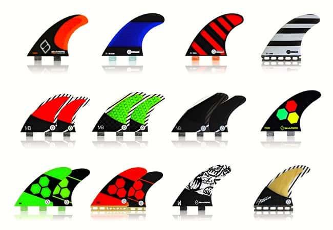 surf fins types