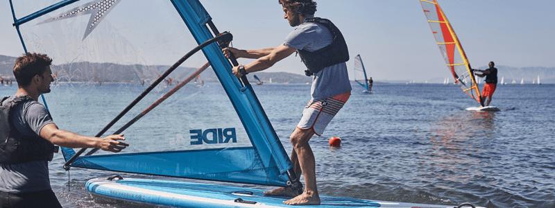 Paddle board windsurf