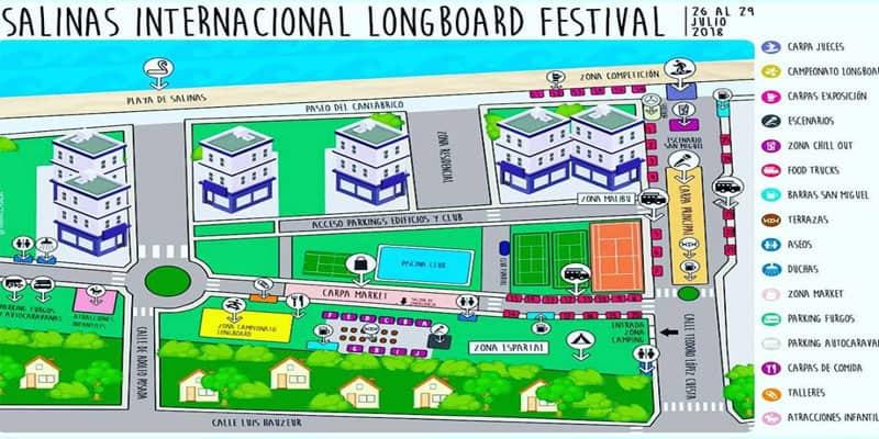 Salinas International Longboard Festival Map