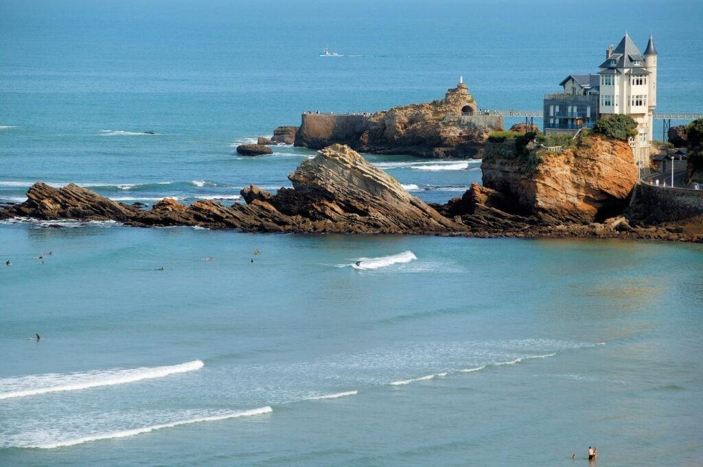 playa de biarritz surf francia