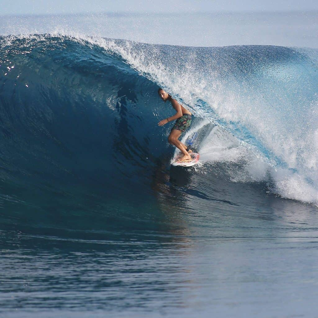 Asher Pacey surfing Maldives