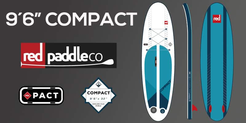"Compact ride 9´6"" red paddle co Paddle board"