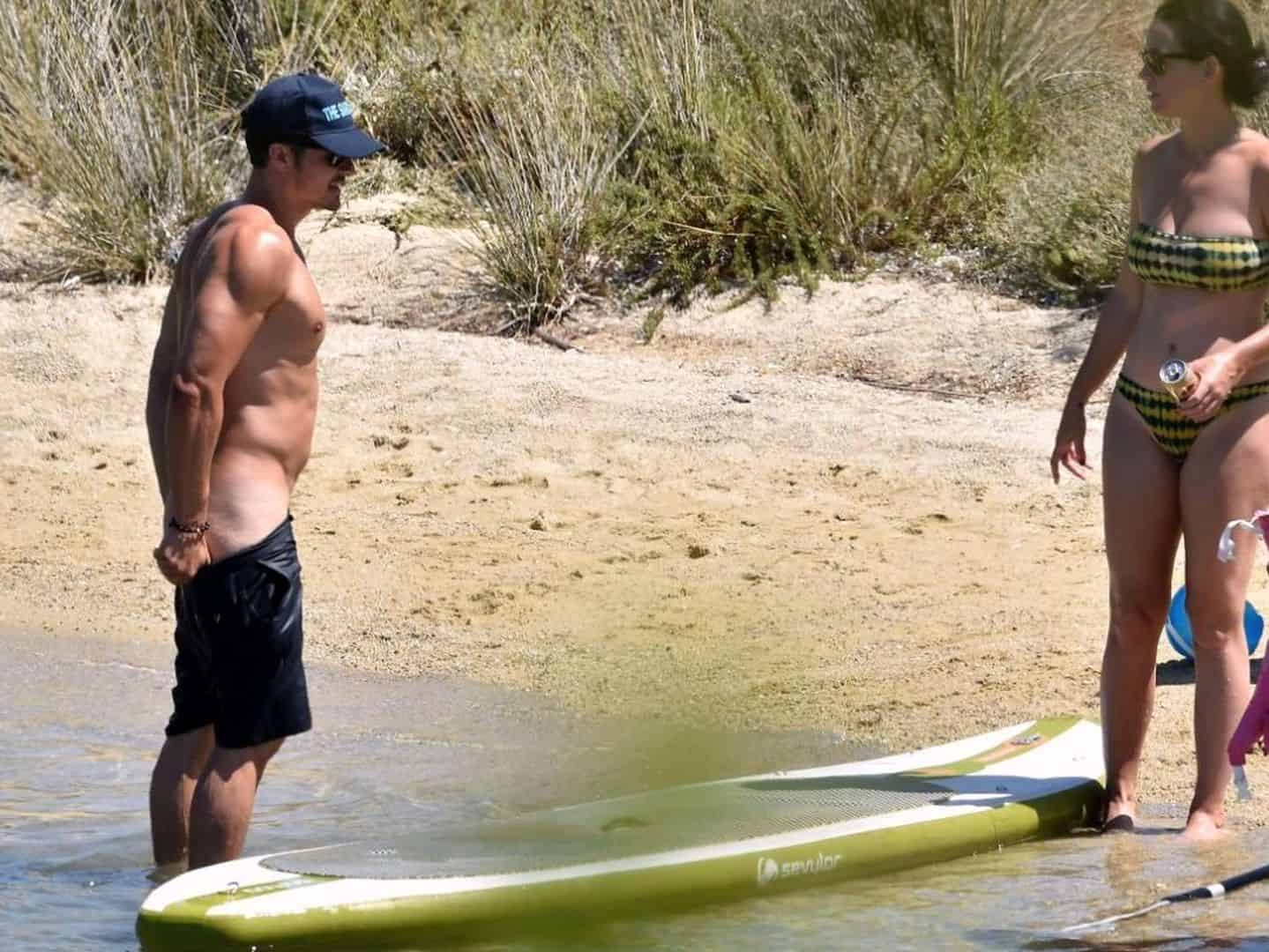 Orlando Bloom Paddle Surf desnudo