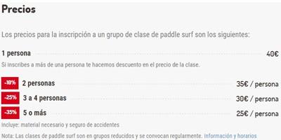 clase paddle surf barcelona