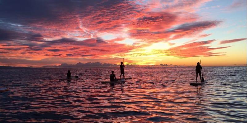 paddle surf amanecer barcelona