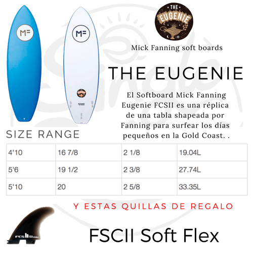 The Eugenie Softboards MF softboards