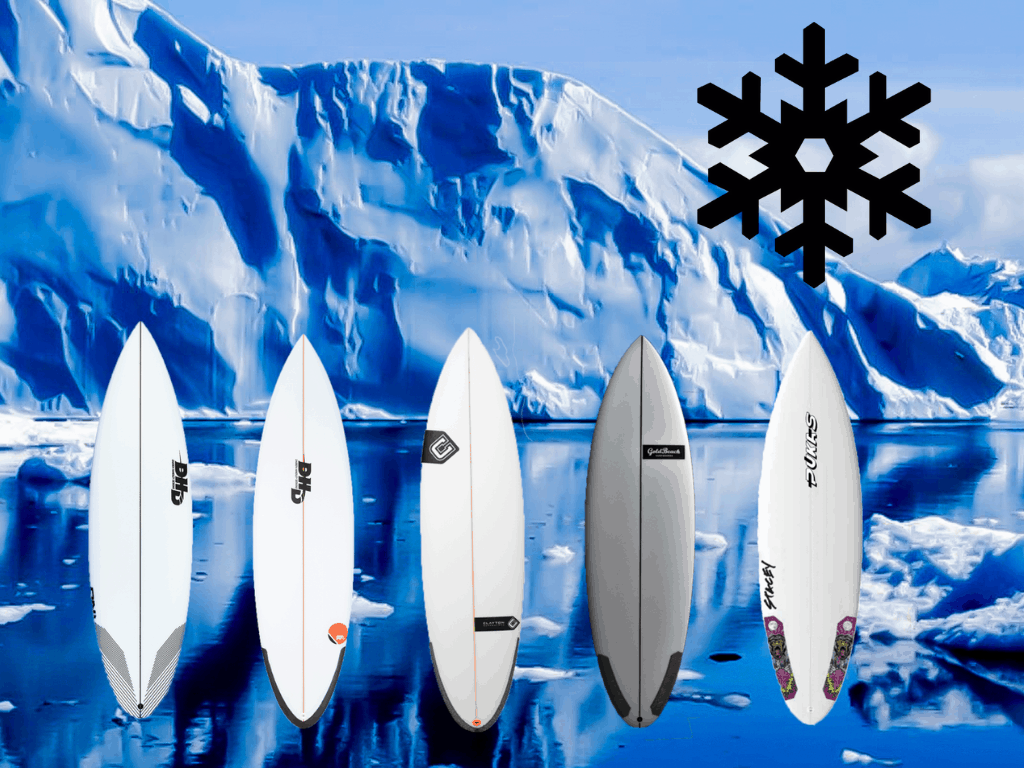 Winter surfboards