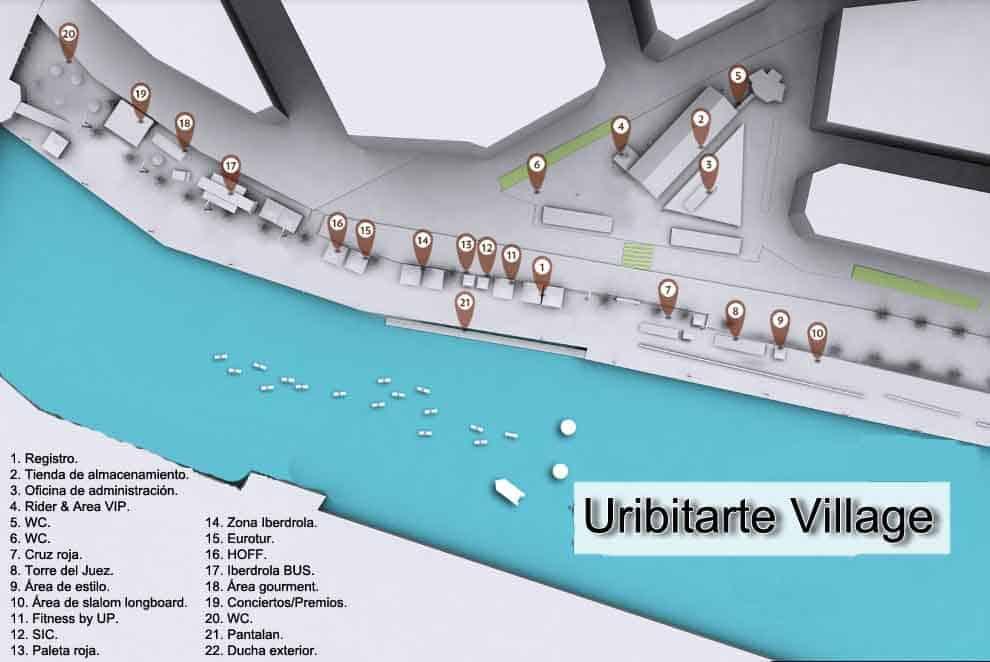 Mapa Bilbao SUP Challenge