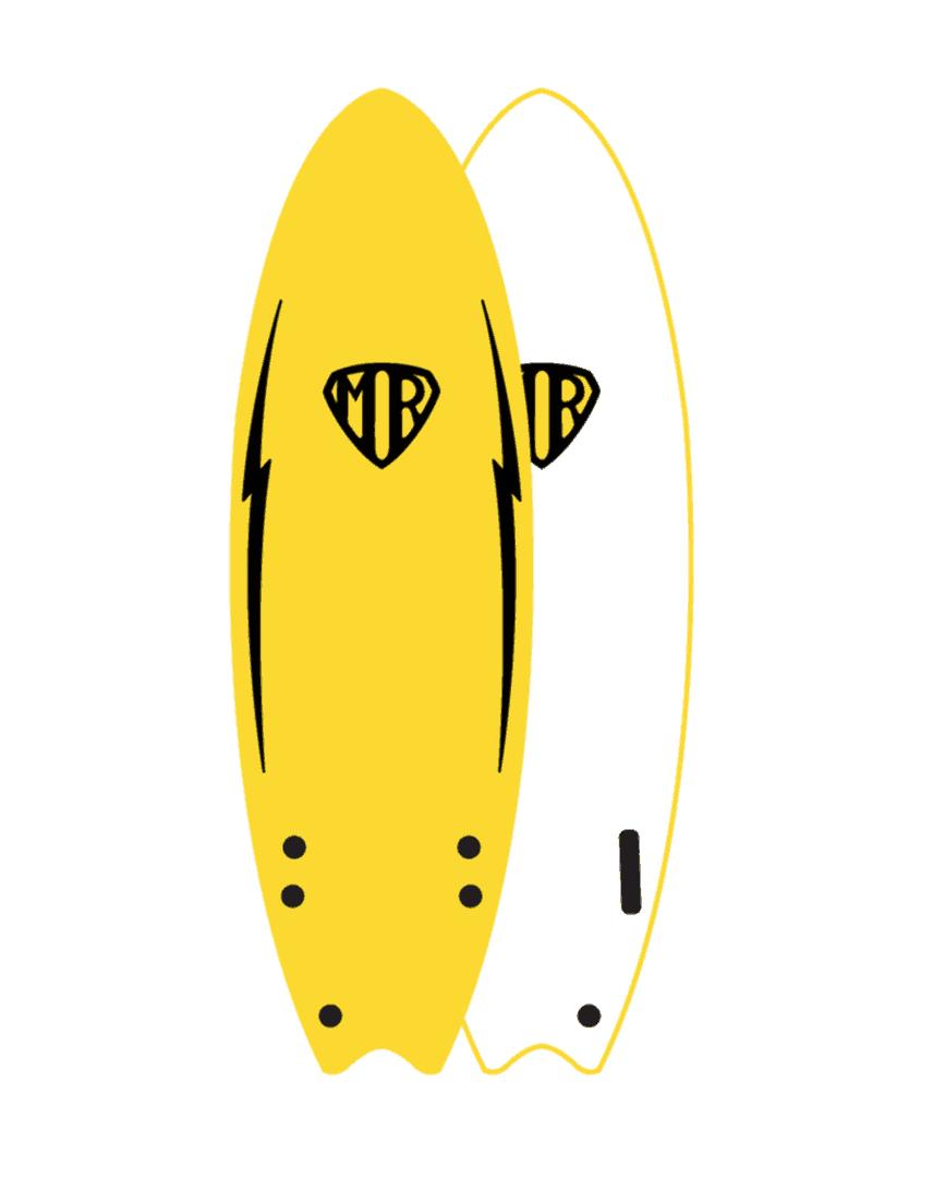 MR Twin FIn amarillo