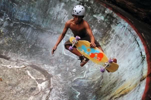 longboard pool