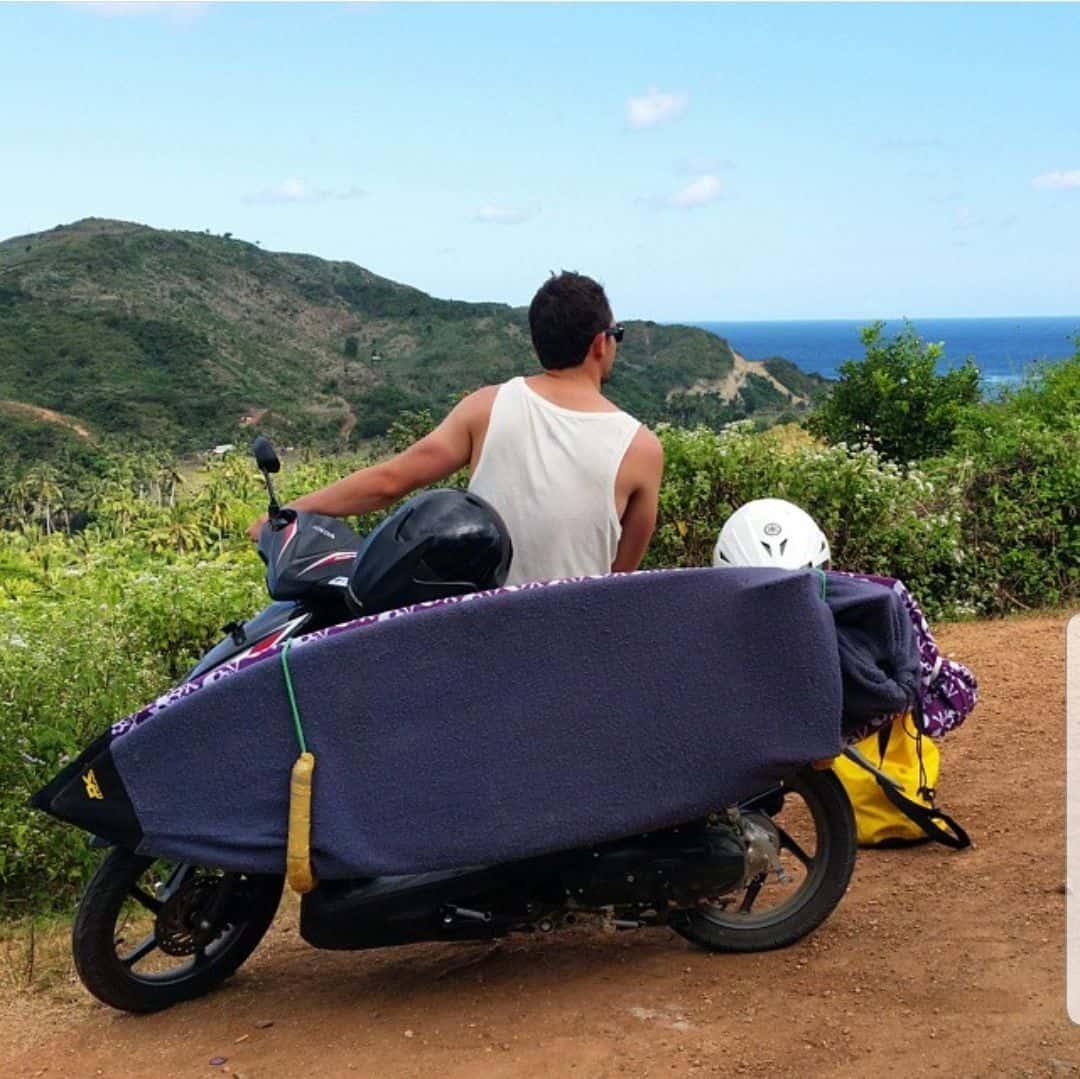 rack moto tabla surf