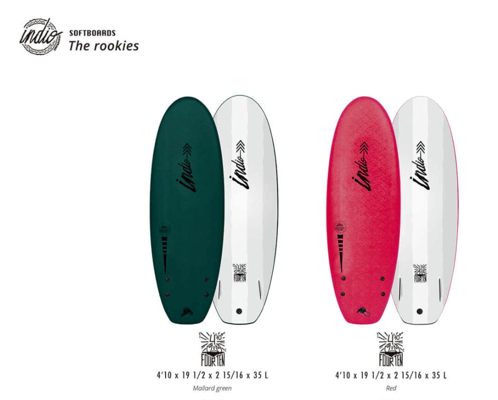 indio rookie 4 10 surfboard