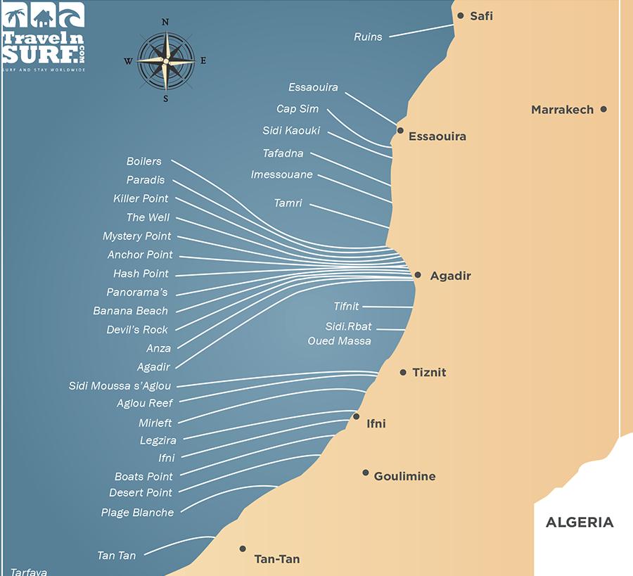 Surf Spots Marruecos