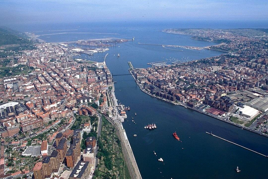 Desembocadura del río el Abra Getxo Portugalete