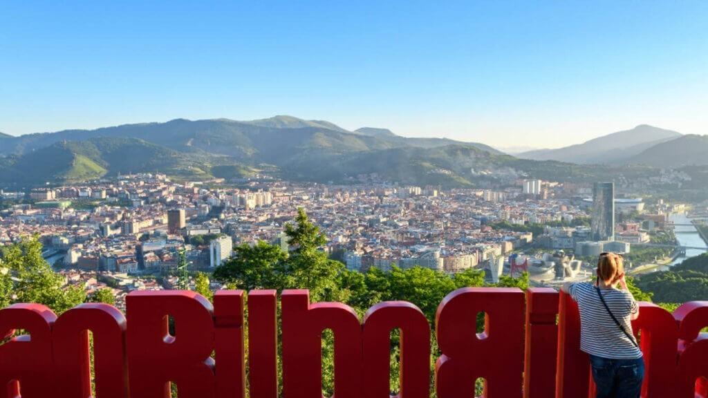Vista de Bilbao desde el mirador de Artxanda
