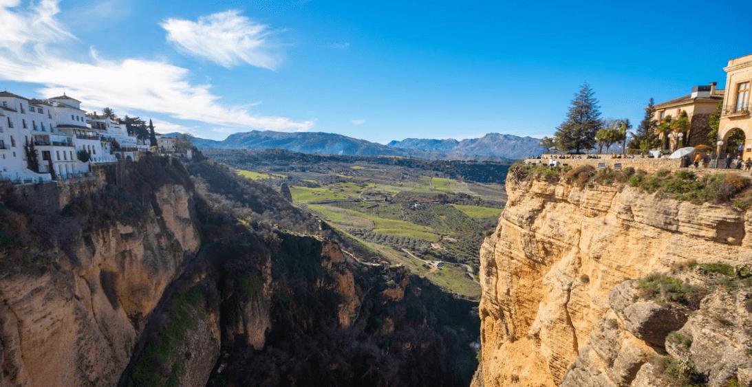 Ronda Málaga vista desde el puente