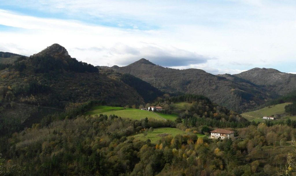 Valle de Lastur en Gipuzkoa
