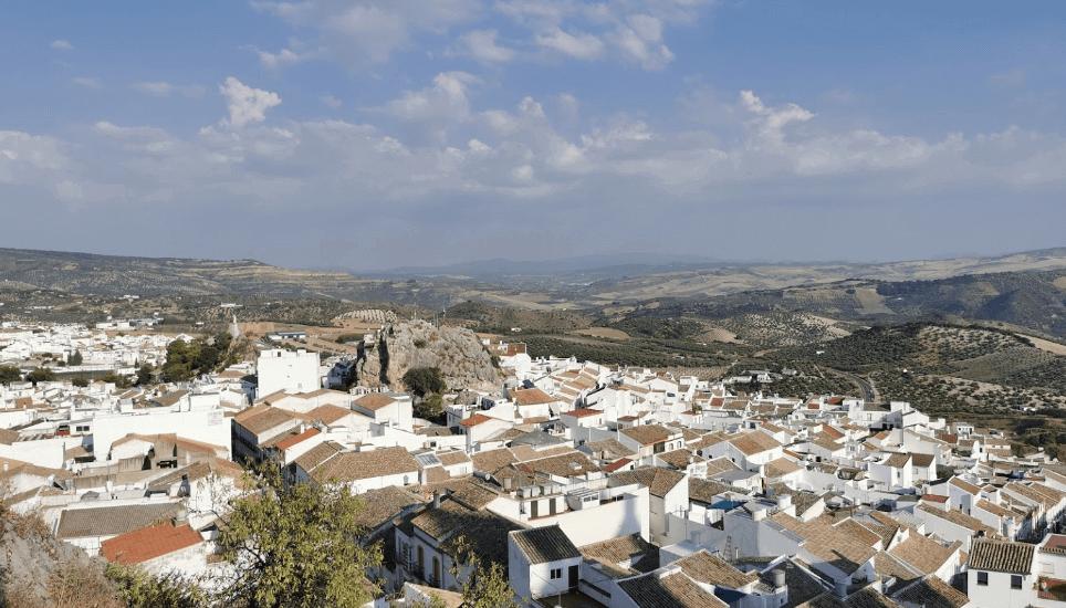 Vista aérea de Olvera Sierra de Cádiz
