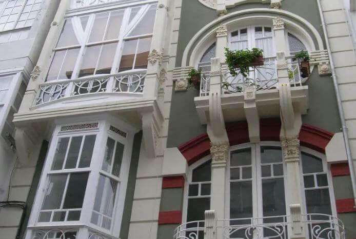 Fachada del Barrio modernista de Ferrol