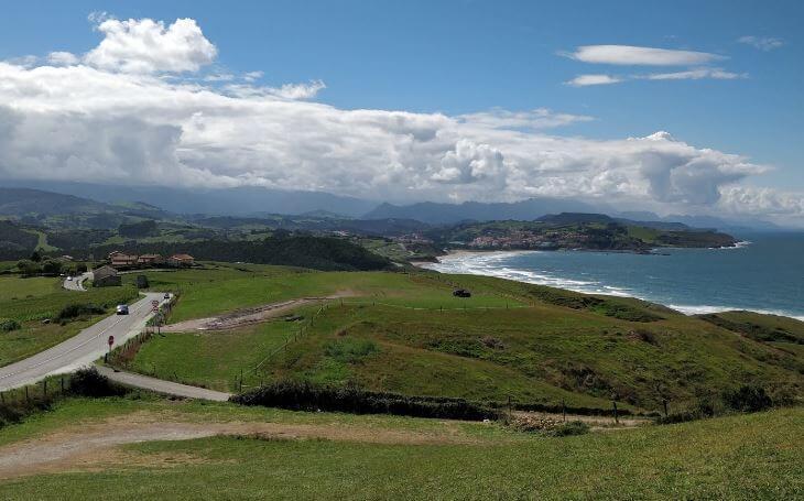 Vistas desde El Rayo Verde Comillas Cantabria