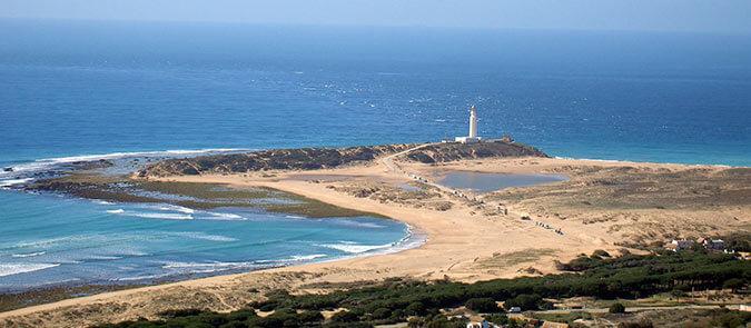 Playa faro de trafalgar cadiz andalucia