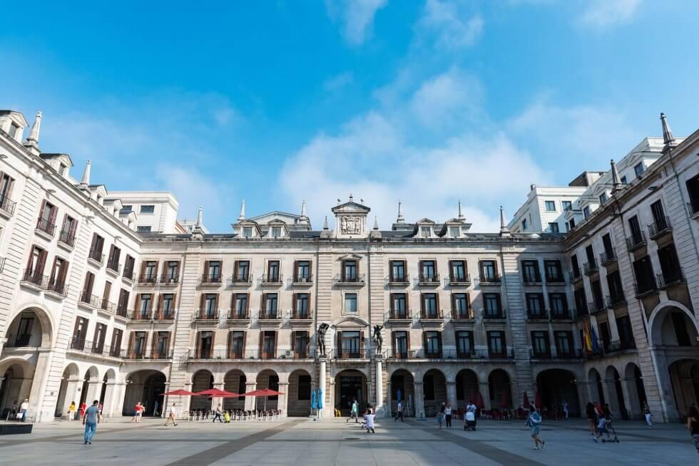 plaza porticada santander ciudad cantabria